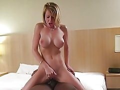 Gorgeous blonde filled with cum